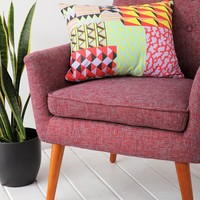 Geo-Patchwork Pillow - Urban Outfitters