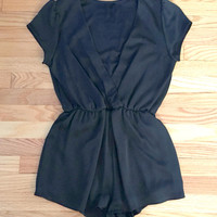 Midnight Hour Romper in Black