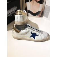 GOLDEN GOOSE GGDB SSTAR Superstar Brown Blue Leather Sneakers Shoes