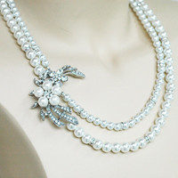 Stella Vintage Inspired Evening or Bridal Bridesmaid Jewelry for your Garden Wedding Complimentary Shipping