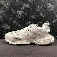 Balenciaga Track Trainers In White Mesh And Nylon Sneakers