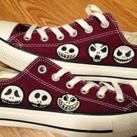 Nightmare Before Christmas Hand Painted Converse Shoes