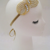 Flapper costume, art deco headpiece, Great Gatsby party, 1920s hair, Prohibition party, speakeasy bar, rhinestone headband