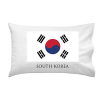 South Korea - World Country National Flags - Pillow Case Single Pillowcase