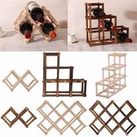 Wooden Red Wine Rack 3/6/10 Bottle Mount Kitchen Holder Exhibition Organizer U2AZQZ1290/y1