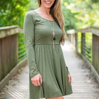 Cross It Off Dress, Olive