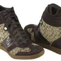 Coach Alara Womens Size 8 Brown Suede Sneakers Shoes