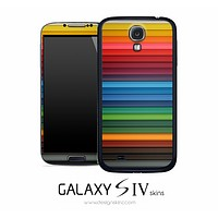 Horizontal Colorful Stripped Skin for the Galaxy S4