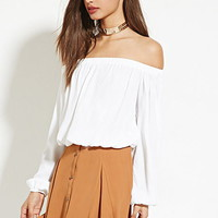 Button-Front Skater Skirt