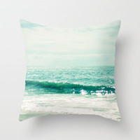 Sea of Tranquility... Throw Pillow by Lisa Argyropoulos   Society6