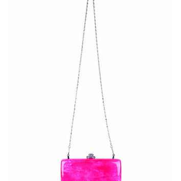 Bisous Hot Pink Quartz Clutch