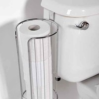 Hanging Toilet Paper Holder- Silver One