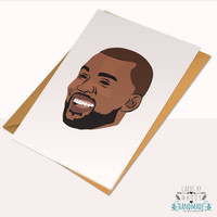 Kanye West Humor Pablo Yeezy Season Yeezus Typography Love Card Stock Birthday Anniversary Card