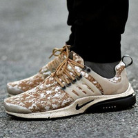 """NIKE"" Air Presto Women Men Fashion Running Sport Casual Shoes Sneakers Khaki Camouflage B-AA-SDDSL-KHZHXMKH"