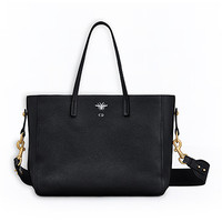 D-bee shopper in black grained calfskin - Dior
