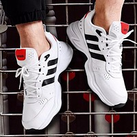 Adidas Fashion New Couple Sports Leisure  Running Shoes White