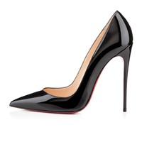 CHRISTIAN LOUBOUTIN Black Patent So Kate 120