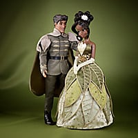 Tiana and Prince Naveen Doll Set - Disney Fairytale Designer Collection