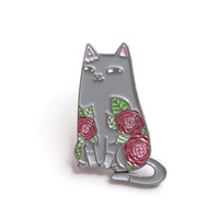 Spike & Camellias Enamel Pin