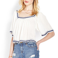 Free To Be Embroidered Top