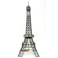 """Eiffel Tower Paris, France, 14"""" Black Metal Wire Statue M14 Decor, Gifts ~ French Eiffel Tower Replica, Centerpiece, Room Décor, Jewelry Stand, Tea Candle Holder."""