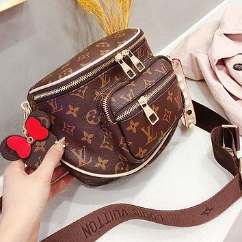 LV Shoulder Crossbody Bag Crossbody To Send Mickey Pendant