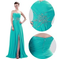 2016 Plus 6-20 Long Dress SPLIT Prom Evening Gown Ball Party Bridesmaid Formal