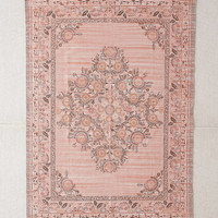 Stina Floral Space Dyed Printed Rug   Urban Outfitters