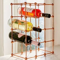 Rose Gold Wine Rack | Urban Outfitters