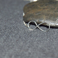silver infinity necklace, sterling silver minimal necklace, small figure 8 necklace, zen jewelry, love necklace, silver dainty necklace