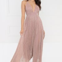 Champagne Toast Dress- Mauve