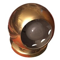 Pre-owned Vintage Brass Dome Lamp
