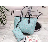 Coach fashion casual lady shoulder bag hot seller with printed shopping bag