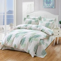 Cool Green leaves Bedding sets 4/3pcs Comfortable Bed Sheets Duvet Cover quilt cover twin full queen king bedclothes Best-sellingAT_93_12
