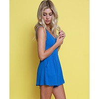 Ready To Embrace Romper - Royal Blue
