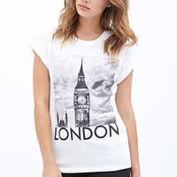FOREVER 21 Favorite London Tee White/Black