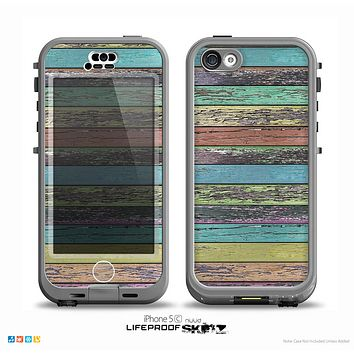 The Chipped Pastel Paint on Wood Skin for the iPhone 5c nüüd LifeProof Case