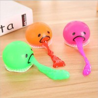 2017 Hot Selling Vomiting Egg Slime Toys Yolk Lazy Brother Squeezed Slime Creative Prank Gifts For Kids Funny Toys Antistress