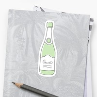 'Champagne bottle stickers' Sticker by Mhea