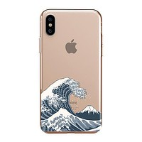 Japanese Wave - Clear TPU - iPhone Case