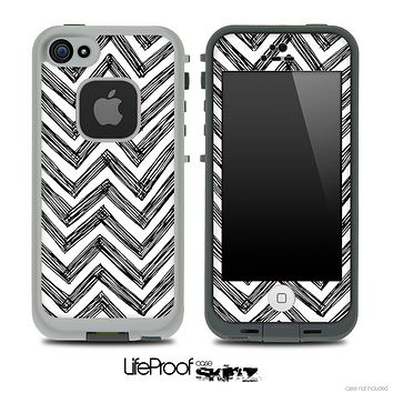 Pencil Zig Zag Skin for the iPhone 5 or 4/4s LifeProof Case