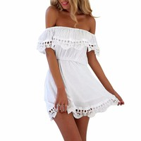 Lace White Sundress