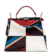 Fendi - Peekaboo Large Multicolor Geometric Calf Hair Satchel - Saks Fifth Avenue Mobile