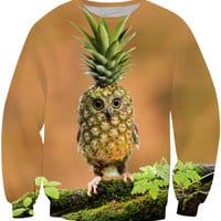 Owl PIneapple Sweater