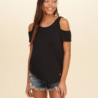 Girls Must-Have Easy Cold Shoulder T-Shirt | Girls Tops | HollisterCo.com