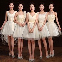 Aliexpress best selling new sisters dress bridesmaids dresses. variety of champagne bridesmaid dress