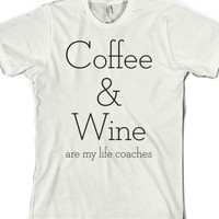 White T-Shirt | Coffee And Wine Shirts