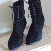 Vintage Suede Boots, Size 7, Cosplay, Steam punk boots, Victorian boots