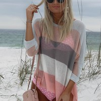 Our Forever Multi Stripe Knit Sweater