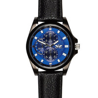 River Island MensBlack blue textured face watch